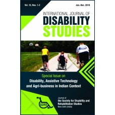 International Journal of Disability Studies (Volume 10, Nos. 1-2)